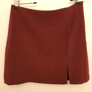 ❤️ BCBG maroon mini skirt
